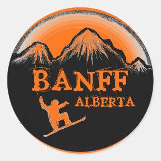 Banff Alberta Canada orange snowboard stickers