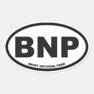 Banff Alberta Oval Stickers