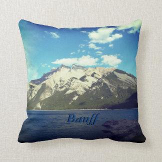 Banff and Mountain Throw Pillow