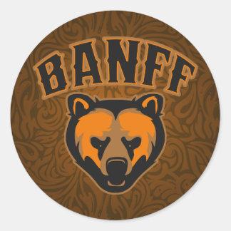 Banff Bear Face Logo Classic Round Sticker