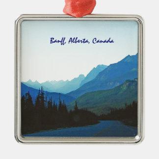 Banff Jasper Blue Metal Ornament