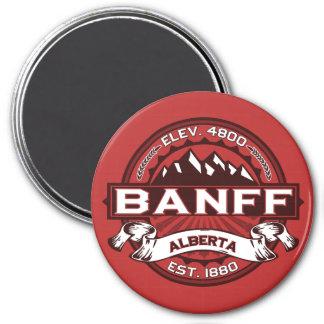 Banff Logo Red 3 Inch Round Magnet