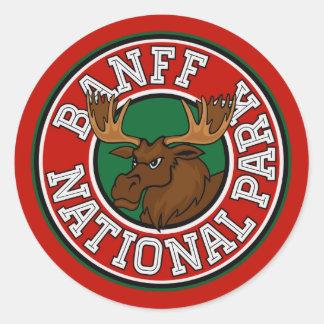 Banff Moose Circle Classic Round Sticker