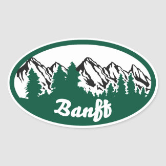 Banff Mountain Oval Oval Sticker