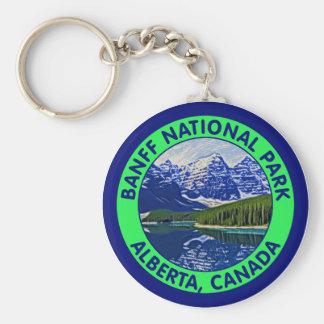 Banff National Park, Alberta, Canada Basic Round Button Keychain