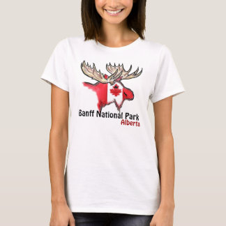 Banff National Park Alberta Canada elk ladies tee
