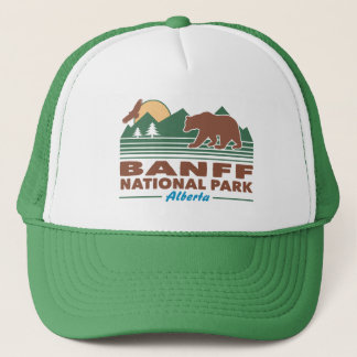 Banff National Park Bear Trucker Hat