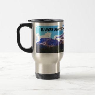 Banff National Park - Crowfoot Glacier Watercolor Travel Mug