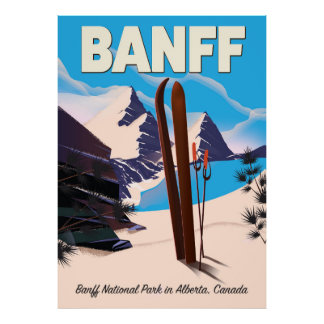 Banff National Park in Alberta, Canada. Poster