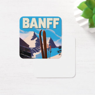 Banff National Park in Alberta, Canada. Square Business Card