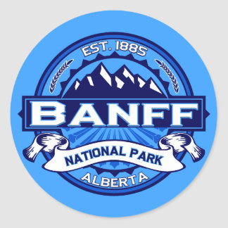 Banff National Park Logo Classic Round Sticker