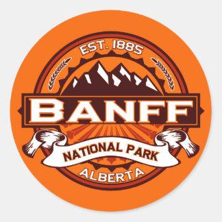 Banff National Park Logo Classic Round Sticker