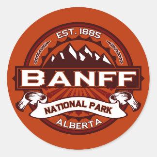Banff Natl Park Crimson Classic Round Sticker