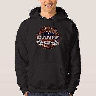 Banff Natl Park Vibrant  Logo Hoodie