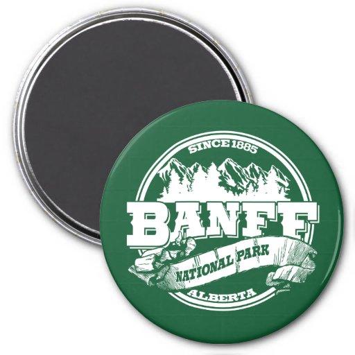 Banff Old Circle Green Fridge Magnet