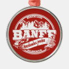 Banff Old Circle Red Metal Ornament