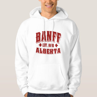 Banff Old Style Canada Red Hoodie