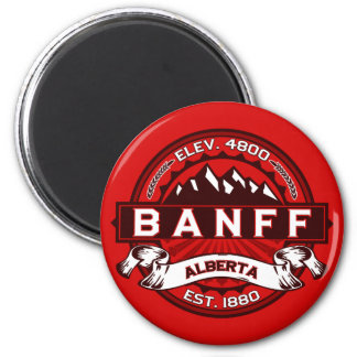 Banff Tile Red Magnet