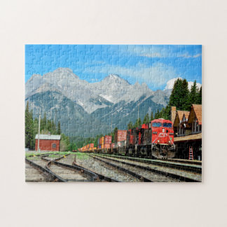 Banff Train Station Alberta. Jigsaw Puzzle