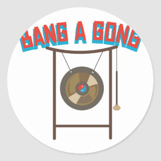 Bang A Gong Round Sticker