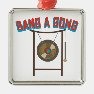 Bang A Gong Silver-Colored Square Ornament