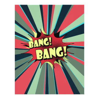 Bang bang comic book effect sound custom letterhead