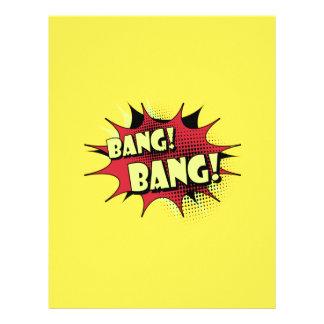 Bang bang comic book effect sound customized letterhead