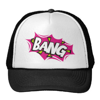 Bang Cartoon Pow Zap Trucker Hat