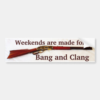 Bang & Clang Cowboy Action Shooting Bumper Sticker
