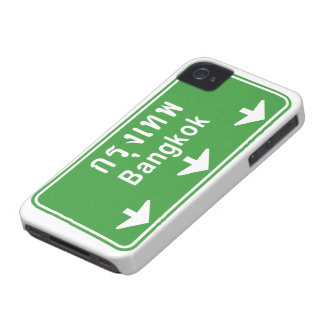 Bangkok Ahead Watch Out! ⚠ Thailand Traffic Sign ⚠ iPhone 4 Case-Mate Case