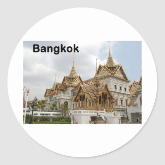 Bangkok grand palace (St.K) Classic Round Sticker