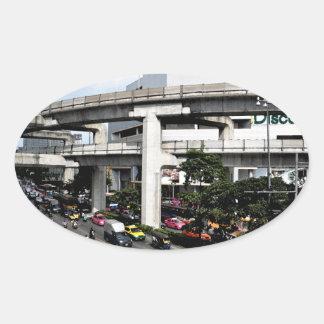 Bangkok Oval Sticker