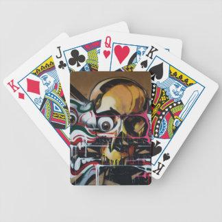 Bangkok Skull Graffiti Bicycle Playing Cards