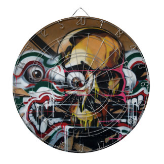 Bangkok Skull Graffiti Dart Boards