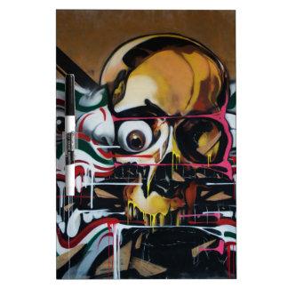 Bangkok Skull Graffiti Dry-Erase Whiteboard