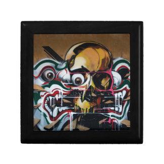 Bangkok Skull Graffiti Keepsake Boxes