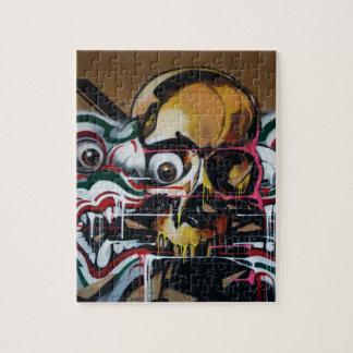 Bangkok Skull Graffiti Puzzle