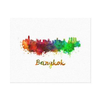 Bangkok skyline in watercolor canvas print