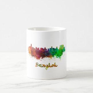 Bangkok skyline in watercolor coffee mug
