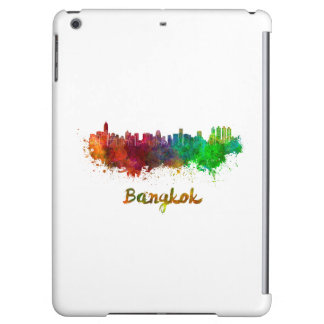 Bangkok skyline in watercolor cover for iPad air