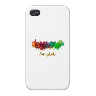 Bangkok skyline in watercolor iPhone 4 cases
