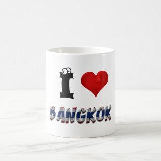 Bangkok Thailand Heart Thai Flag Typography Coffee Mug