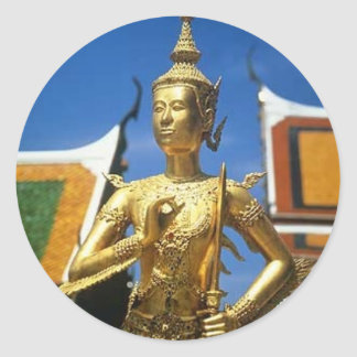 Bangkok Thailand Royal Temple Classic Round Sticker