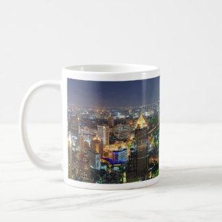 Bangkok Thailand Skyline at Night Panorama Coffee Mug