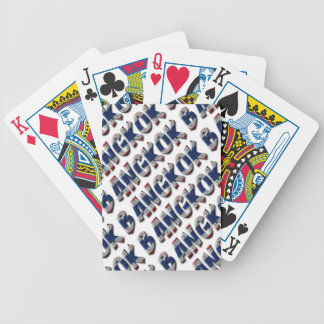 Bangkok Thailand Thai Flag Colors Typography Bicycle Playing Cards