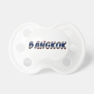 Bangkok Thailand Thai Flag Colors Typography Pacifier