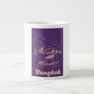 Bangkok, Thailand travel poster Large Coffee Mug