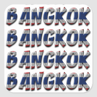 Bangkok Thailand Typography Elegant Text Only Square Sticker