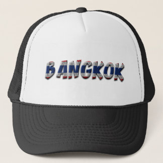 Bangkok Thailand Typography Elegant Text Only Trucker Hat