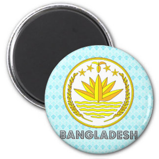 Bangladesh Coat of Arms 2 Inch Round Magnet